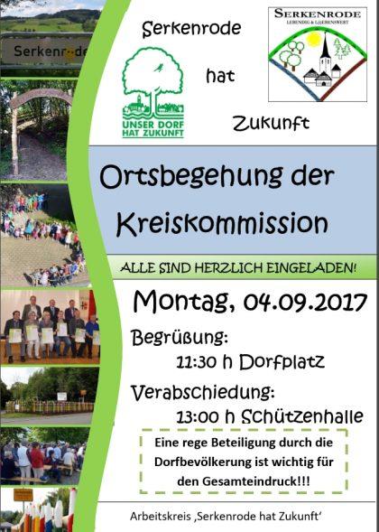 Ortsbegehung Kreiskommission Unser Dorf hat Zukunft